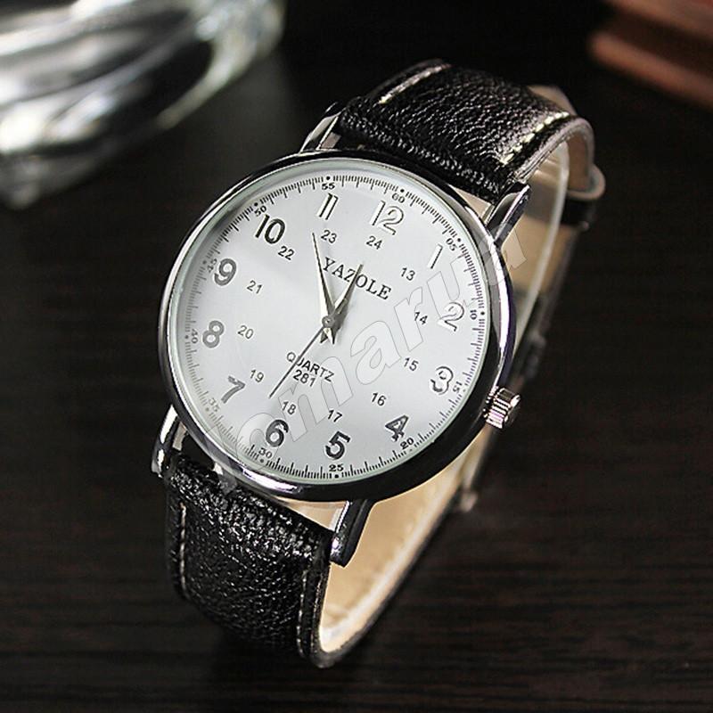 Мужские кварцевые часы Yazole 281 White