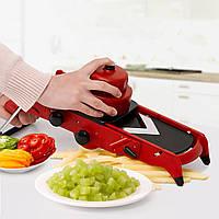 КреативныйкрасныйрезчиксовощамиCutter Fruit Cutter с ручкой из нержавеющей стали ручной картофелеукладчик