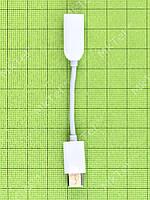 Переходник USB Type-C - аудио Xiaomi Mi6, белый, Оригинал