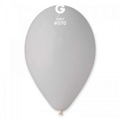 Шарик воздушный 12 дюймов (30 см) пастель СЕРЫЙ