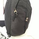 Однолямочный рюкзак 10 л One polar W1292 спортивный городской черно-синий, фото 3