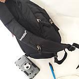 Однолямочный рюкзак 10 л One polar W1292 спортивный городской черно-синий, фото 5