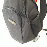 Однолямочный рюкзак 10 л One polar W1292 спортивный городской черно-синий, фото 6
