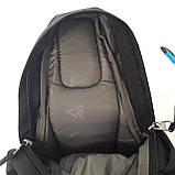 Однолямочный рюкзак 10 л One polar W1292 спортивный городской черно-синий, фото 7
