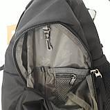 Однолямочный рюкзак 10 л One polar W1292 спортивный городской черно-синий, фото 8