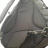 Однолямочный рюкзак 10 л One polar W1292 спортивный городской черно-синий, фото 10