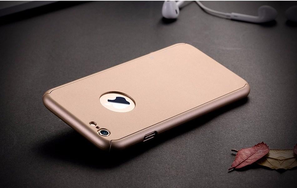 Чехол Dualhard 360 для Iphone 6 Plus / 6s Plus оригинальный Бампер + стекло в подарок Gold