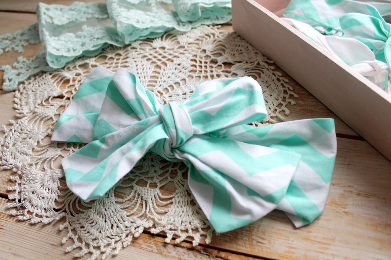 Текстильная повязка для девочки (ширина 9 см, от 6мес.до 5лет)