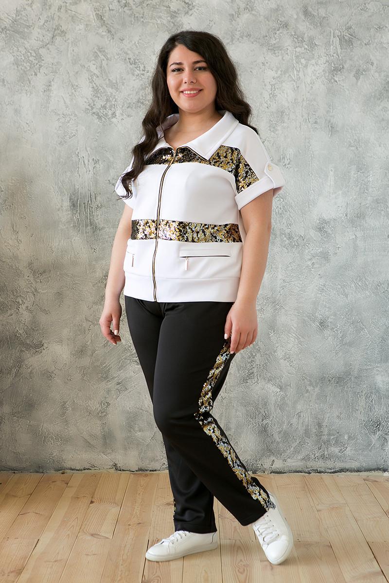 013210d07515c Модный спортивный костюм больших размеров белый 62 - V Mode, прямой  поставщик женской одежды в