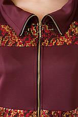 Стильный летний костюм больших размеров бордо, фото 3