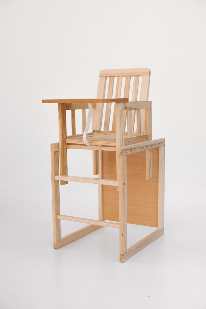 стул трансформер для кормления малыша из дерева натурального дерева цвет натуральный
