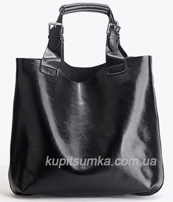 Кожаная женская сумка сумка в сумке
