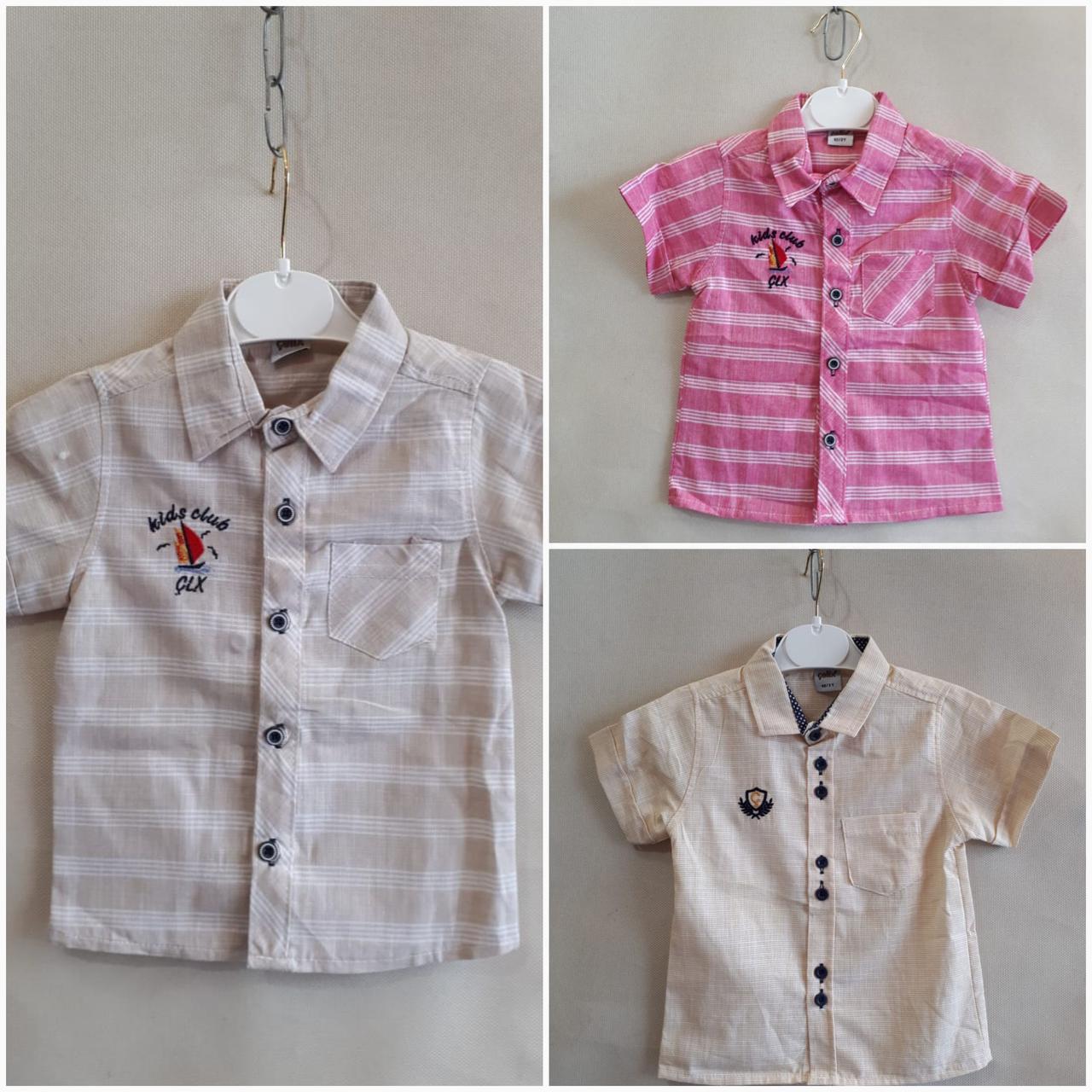 8fcb035d78e Рубашка нарядная для мальчиков короткий рукав 5-8 лет.Турция .Оптом  (Celix502