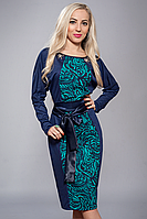 Платье женское модель №213-7,р-р 50 бирюза