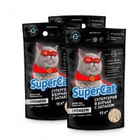 Collar SuperCat Премиум древесный наполнитель для котят и привередливых котов 10л, 5 упаковок