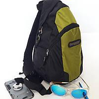 Рюкзак One polar  16 л универсальный W1292 на одно плечо городской спортивный зеленый, фото 1