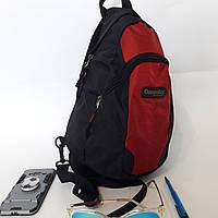 Рюкзак сумка спортивный 10 л однолямочный Onepolar W 1292 черно красный модный молодежный