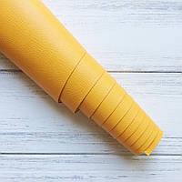 Шкірзамінник палітурний - помаранчевий з фактурою - виробник Італія - 25х35 см