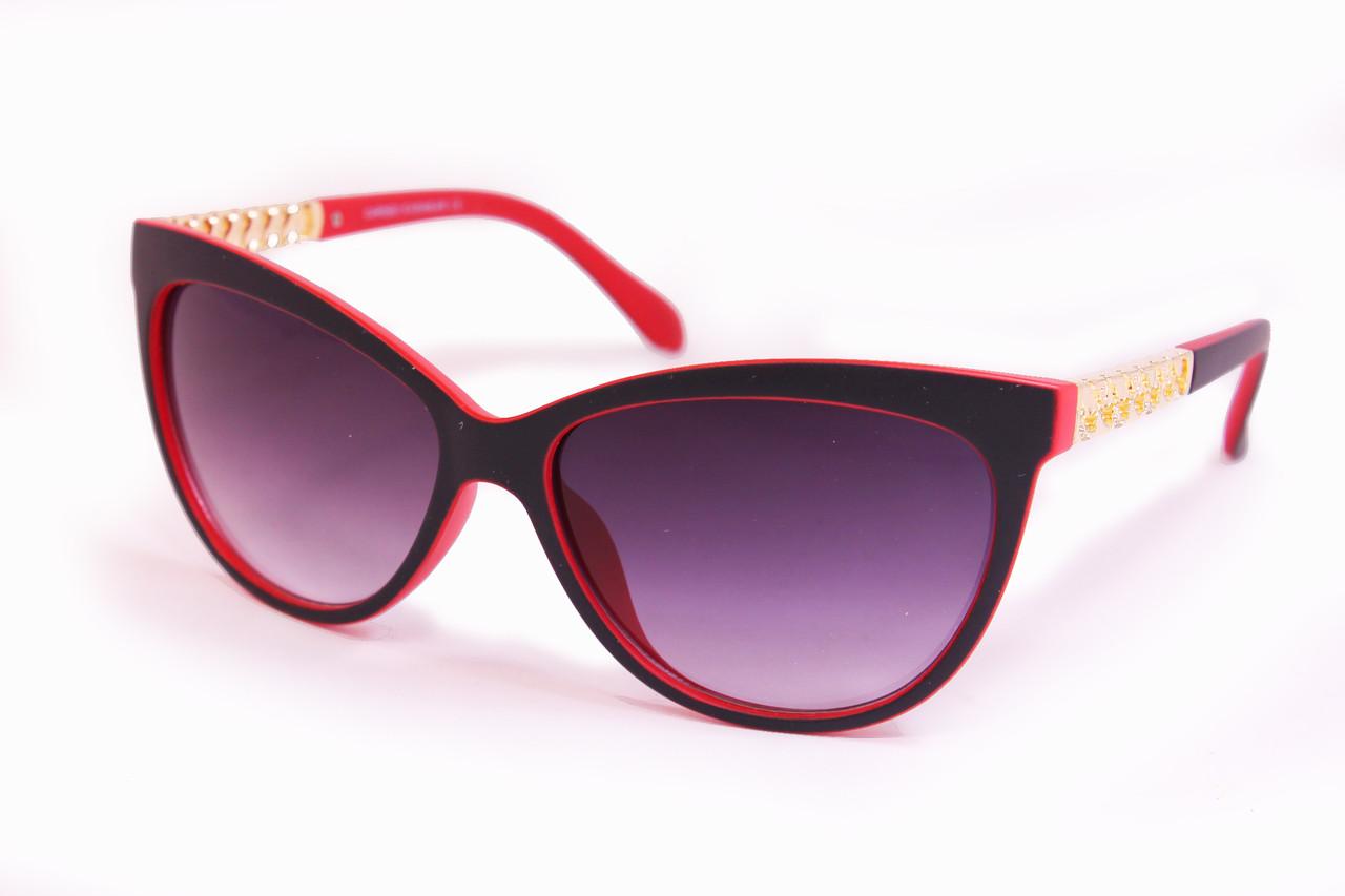 Солнцезащитные очки UV400 Черно-красные (8118-3)