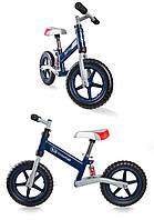 Беговел детский, велобег EVO с амортизатором. Цвет синий.
