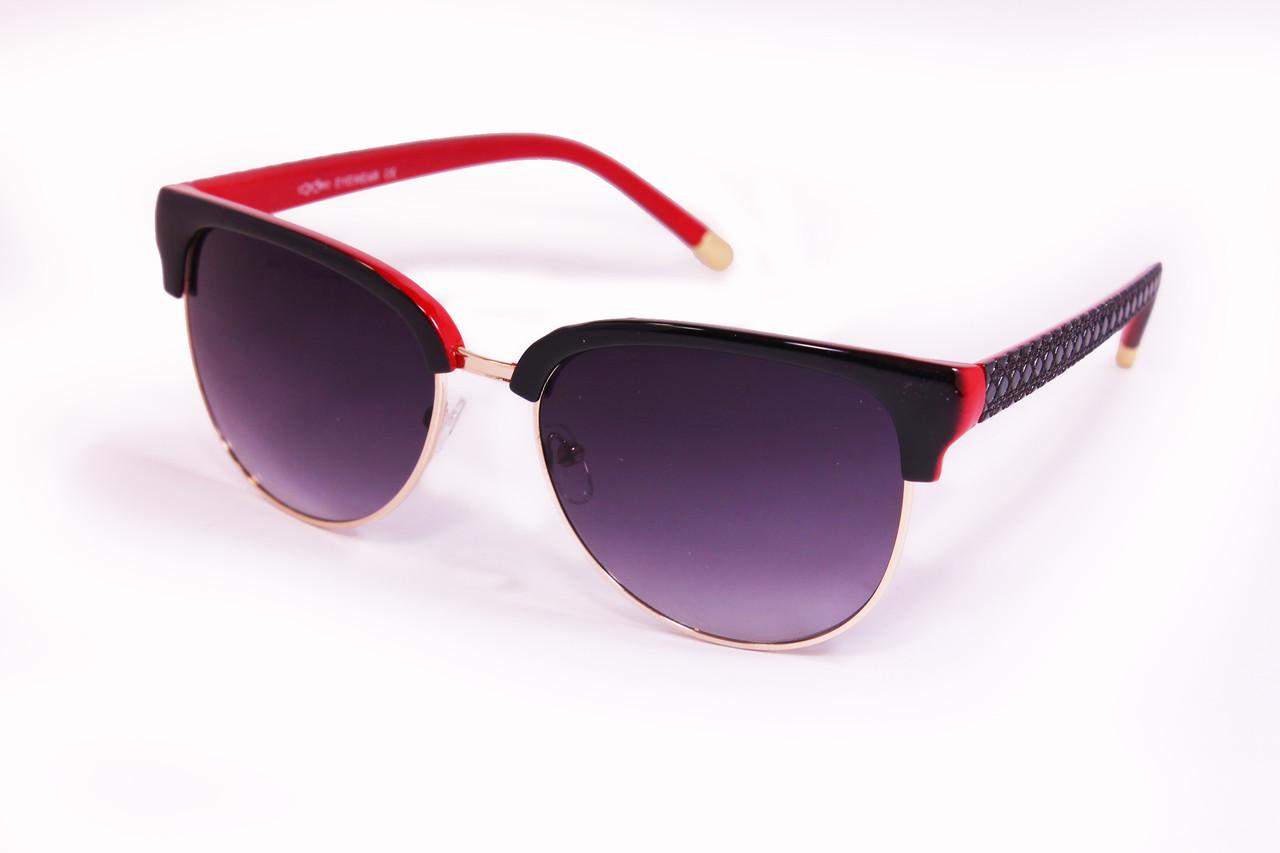 Солнцезащитные очки UV400 Черно-красные (8163-4)