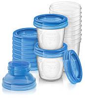 Контейнеры для хранения грудного молока 10шт по 180мл  Philips AVENT (Филипс Авент)