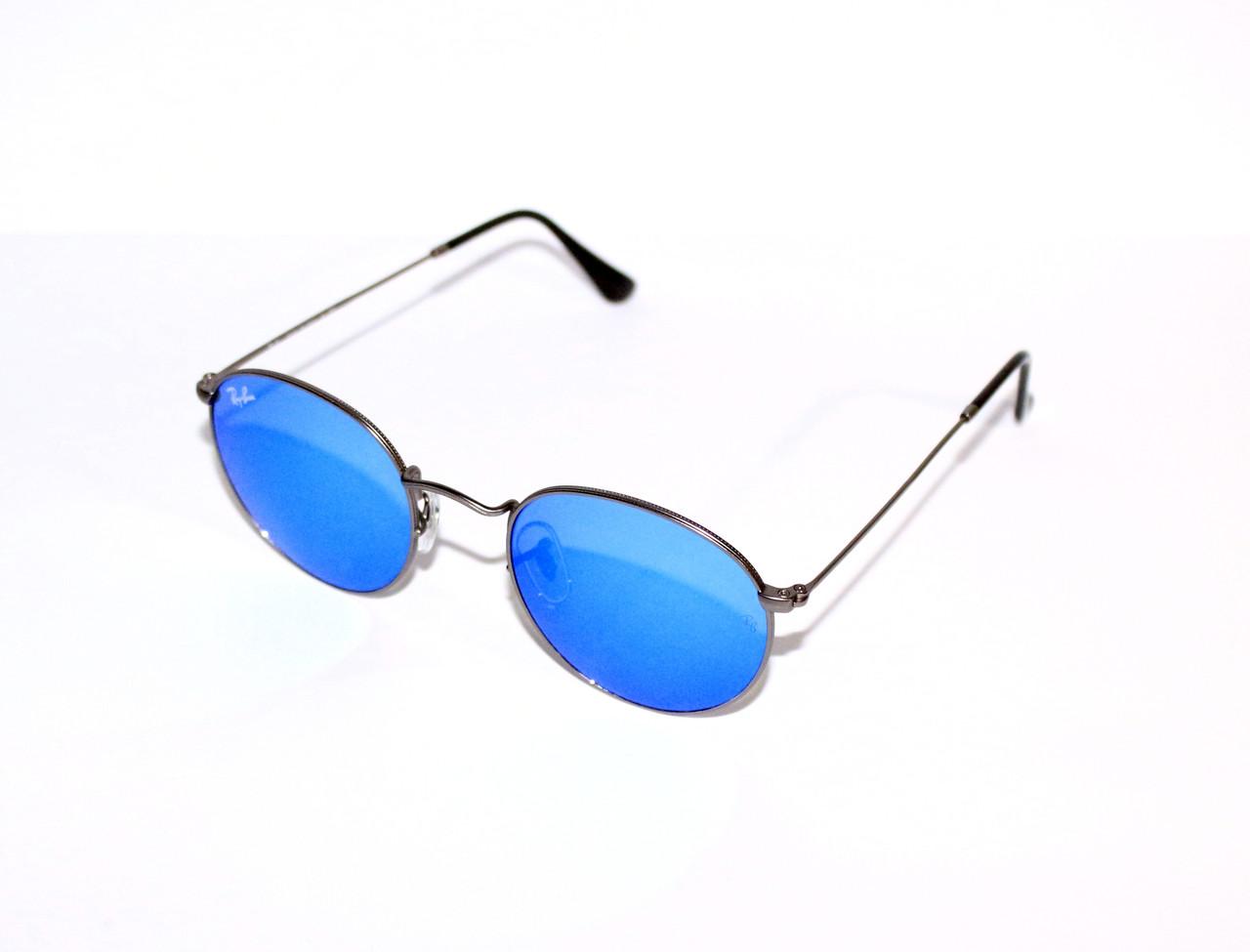 cfeba3e4dc6c Солнцезащитные очки Ray-Ban Round Metal Синие (RB 3447 029/17)