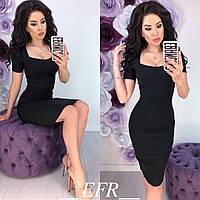 Платье женскоеоблегающее (6 цветов)- Черный ЕФ/-160
