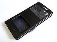 Чехол книжка с окошками momax для Lenovo K5 / K5 Plus / A6020 черный