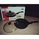 Сковорода с крышкой Vinzer Cast Form Classic 28 см, 89409, фото 4