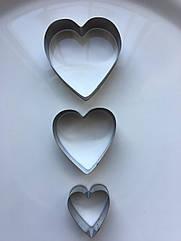 Формы для печенья Сердце 3 шт GA Dynasty 25009