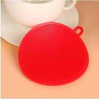 Силиконовая губка (2 шт) для мытья посуды GA Dynasty, диаметр 10 см, CK11-116