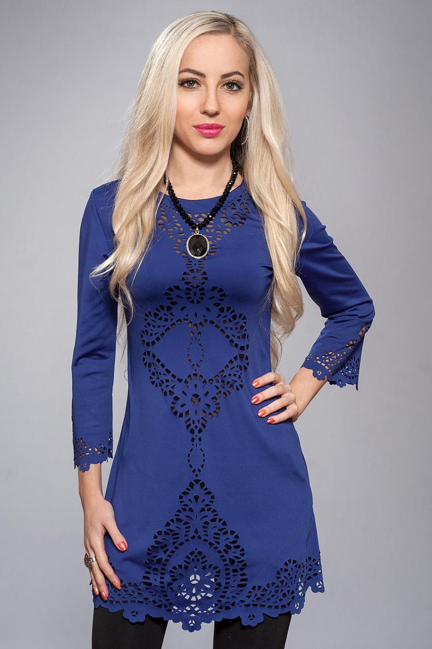 Платье женское модель №218-4,р.44-46, электрик