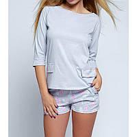 Пижама женская с шортами хлопковая Sara, Sensis