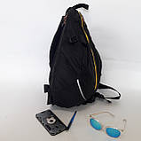 Стильный спортивный рюкзак Onepolar 1305 на одно плечо  20 л  сумка черный, фото 3