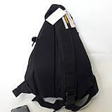 Стильный спортивный рюкзак Onepolar 1305 на одно плечо  20 л  сумка черный, фото 4