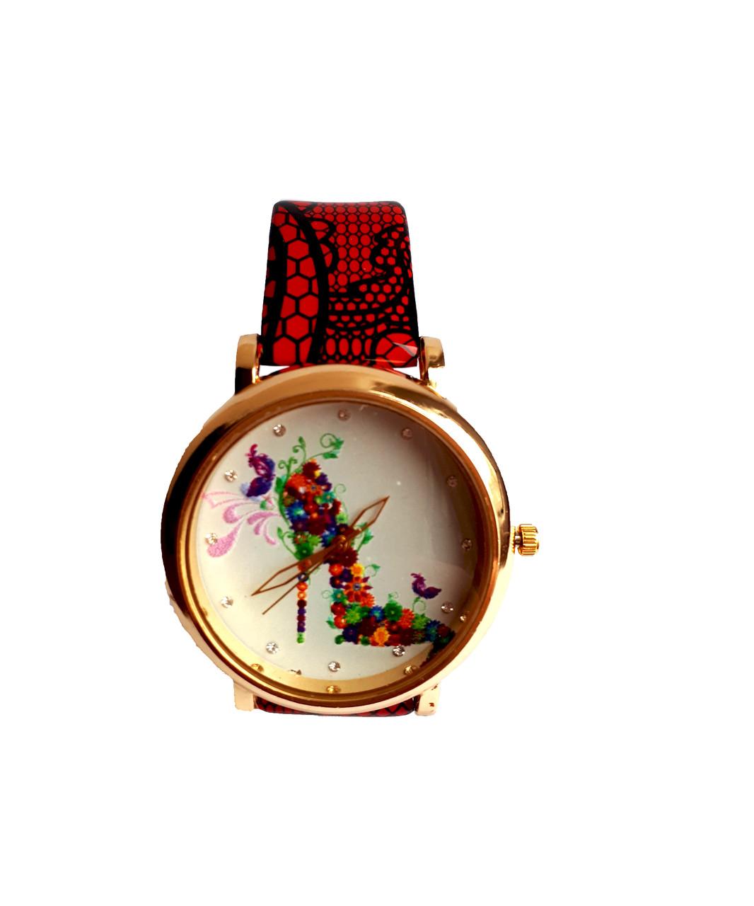Часы женские CFTY Красные (ТК-0032)