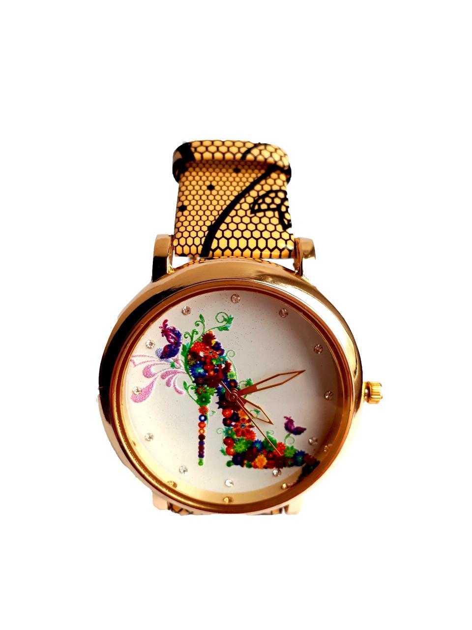 Часы женские CFTY Желтые (ТЖ-0032)