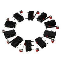 10шт KW12-3 микро-концевой выключатель роликового рычага 5A 125V переключатель открывания/закрывания