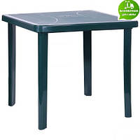 Стол Nettuno 80х80 пластик зеленый 15