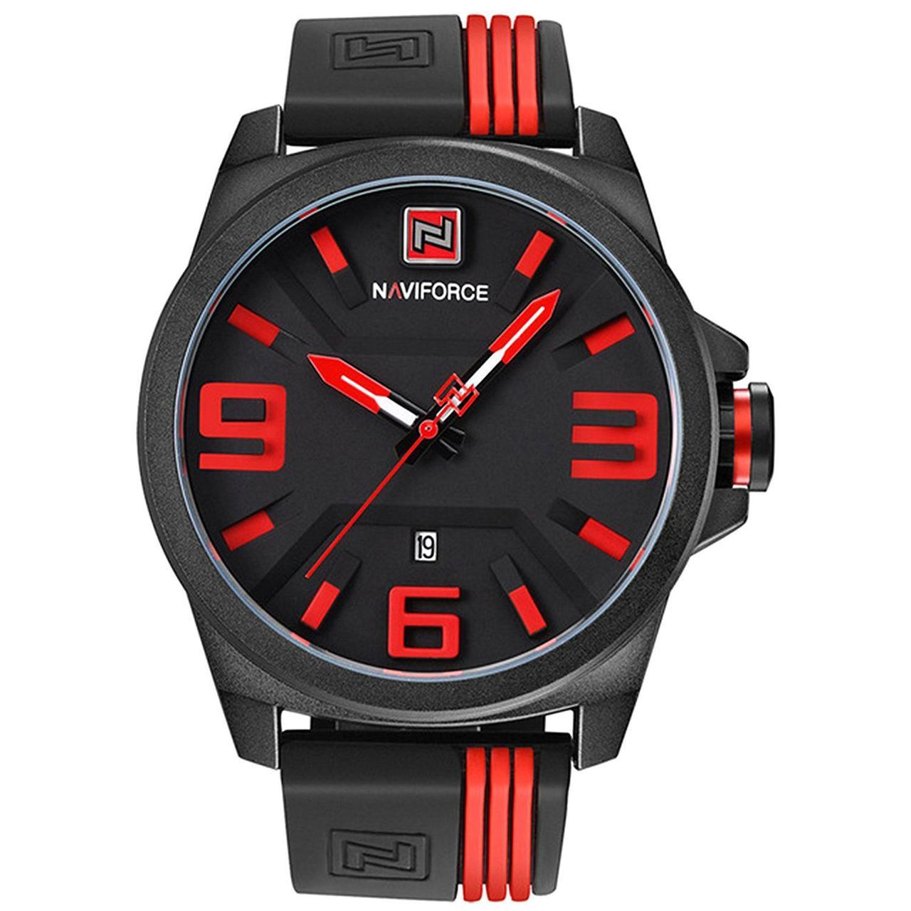 Часы NaviForce BBR-NF9098 Черные с красным (9098BBR)