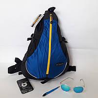 Спортивный рюкзак Onepolar 20 л W1305 на одно плечо эрго крепкий надежный синий