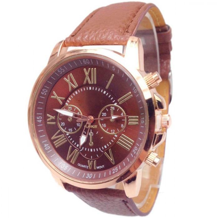 Женские часы Geneva 5079 Brown