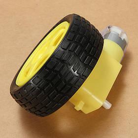 4шт резиновое колесо + DC Gear TT Мотор набор для умного робота Авто-1TopShop