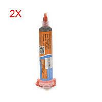 2шт тембров XG-40 10 куб. припоя BGA флюс-паста для пайки оловом крем sn63/pb37