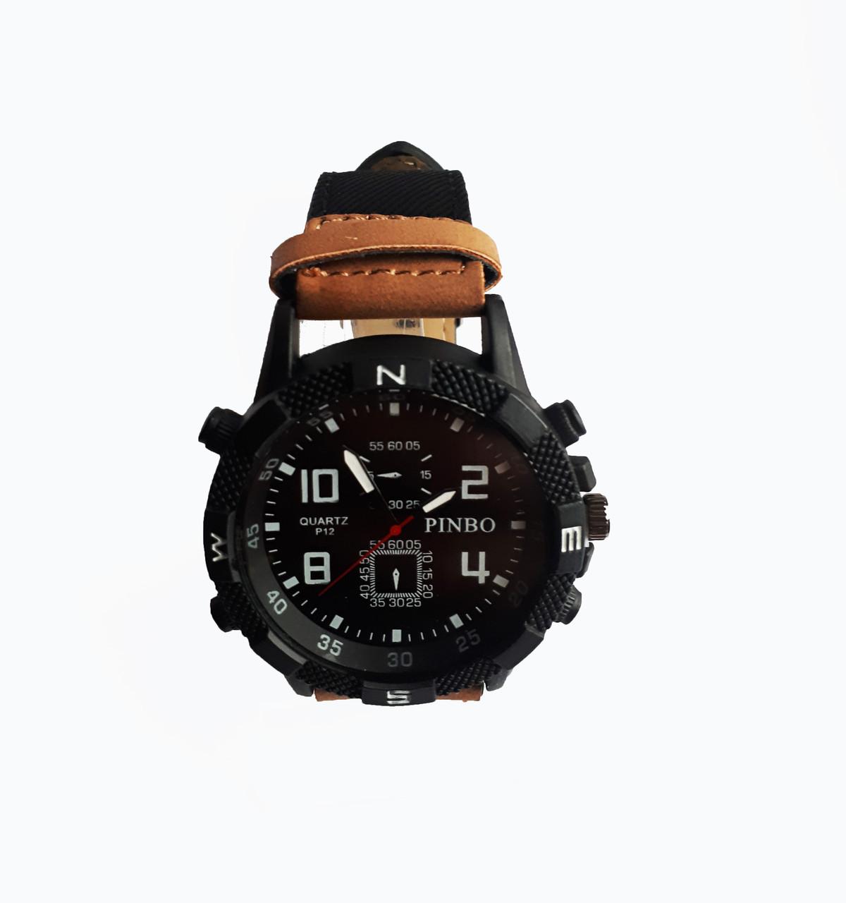 Часы мужские кварцевые Pinbo PB-3500Br Коричневые