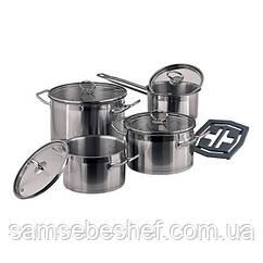Набор кухонной посуды Vinzer Universum Compact 9 предметов, 89040