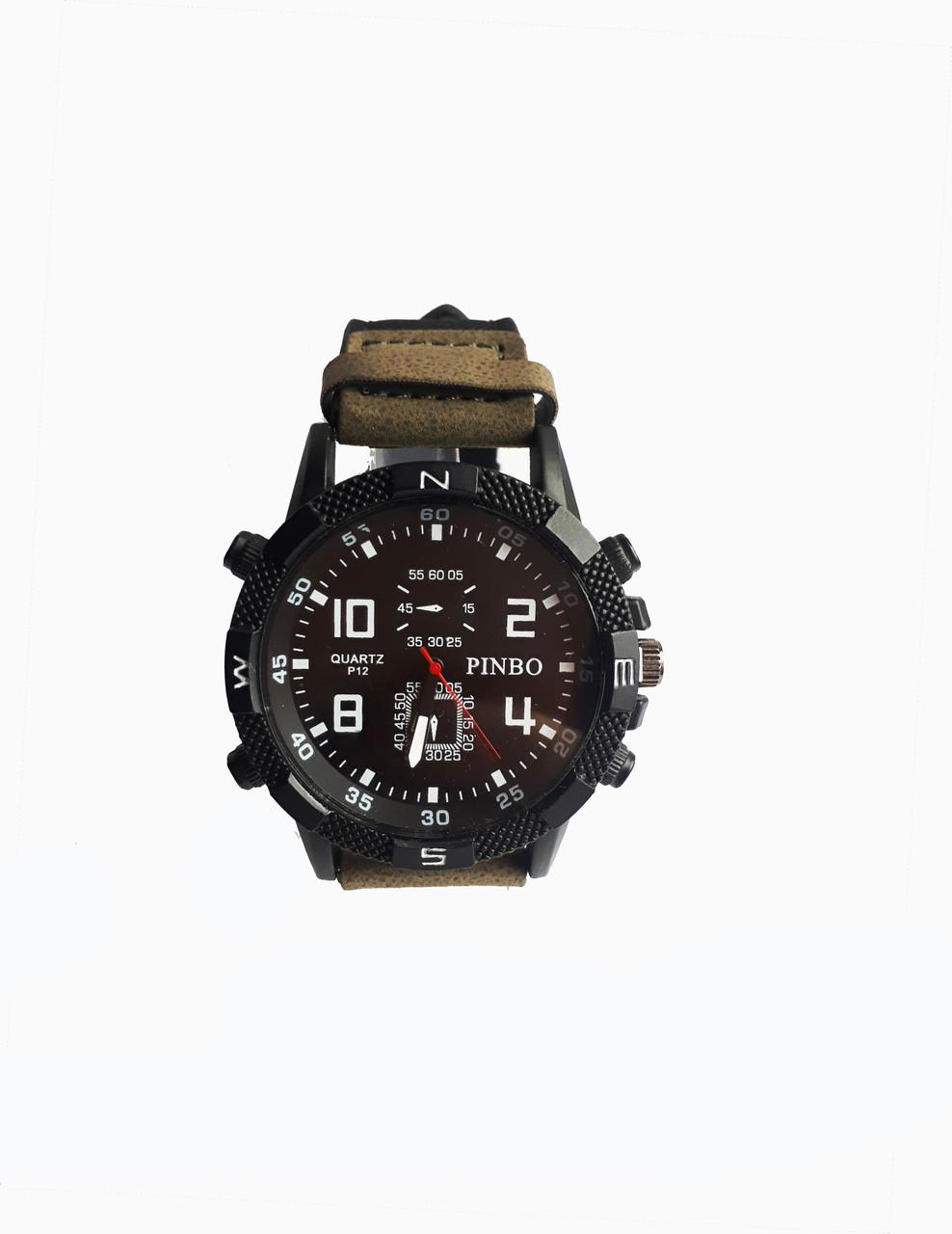 Часы мужские кварцевые Pinbo PB-3500G Зеленые