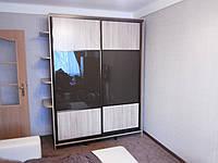 Шкаф-купе с крашеным стеклом