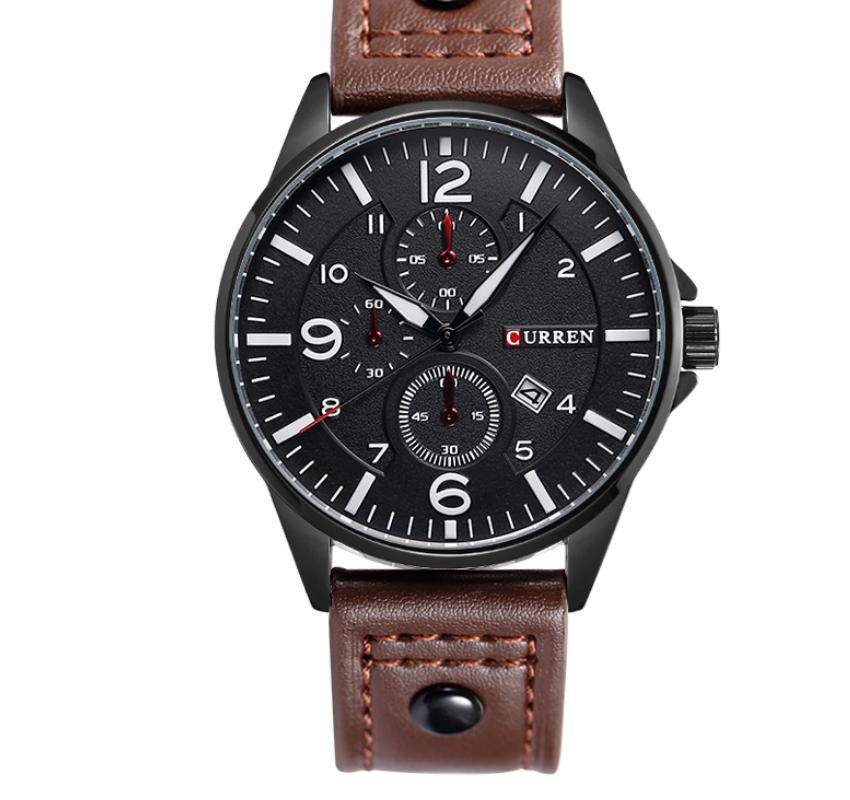 Мужские часы CURREN 8164 Коричневые (AJ_CU_8164)